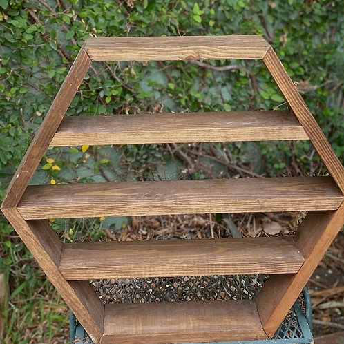 Large Hexagon Shelf