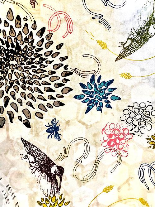 Hummingbirds, Bees and Hydrangeas Mask