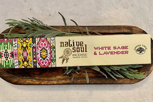 White Sage & Lavender Incense & Dough Bowl Holder