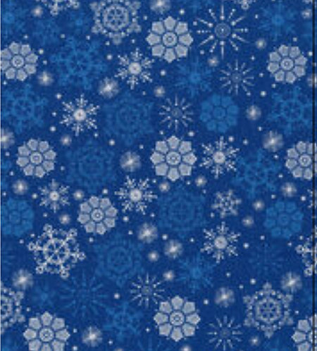 Let It Snow Blue/Matallic Mask