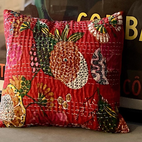 Boho Pillow - Red