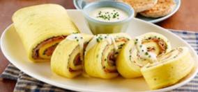 Ham & Cheese Egg Roll Omelette