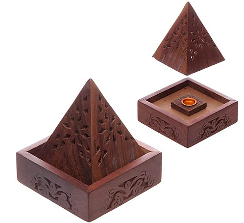 Wooden Handcrafted Cone Incense Burner
