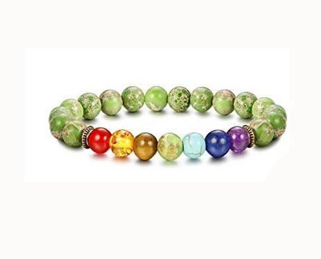 Green Turquoise Chakra Bracelet