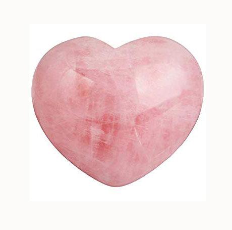 Small Gemstone Heart - Rose Quartz
