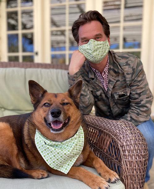 Dog Lovers Special- Matching Mask & Reversible Bandana