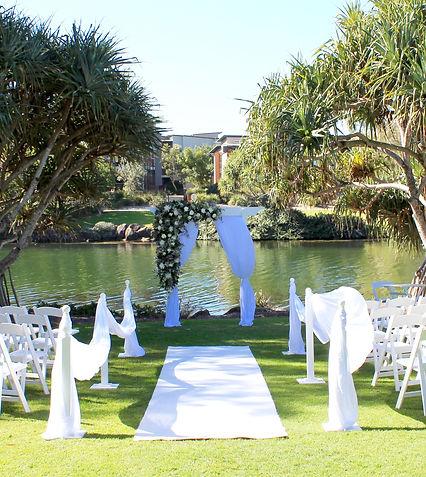 lawn elegant wedding ceremony