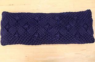 navy crochet cushion.JPG