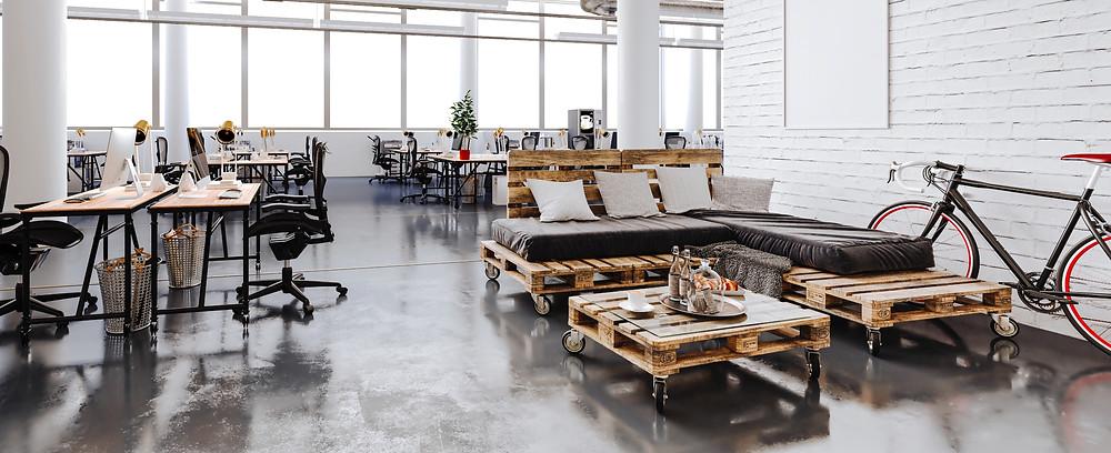 Office open space interior design