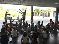 Démonstration du filet manta et filet fermant devant des scolaires lors de l'escale de l'expédition SEA Plastics 2019 au port de Cogolin
