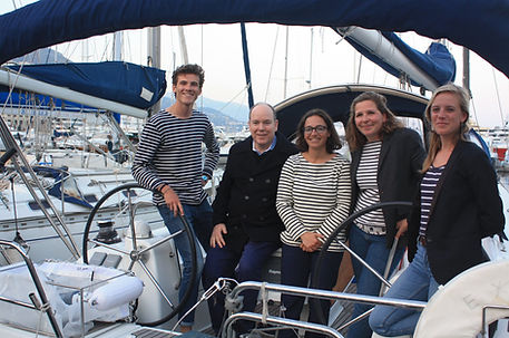 Sea Plastics rencontrent le prince Albert II de Monaco lors de la Monaco Ocean Week en 2019