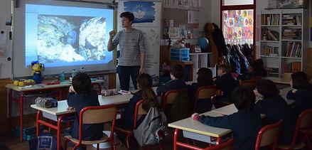 Education à la pollution plastique d'une classe de CE2