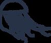 Icone de méduse bleue