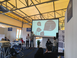Conférence de l'équipage SEA Plastics à l'événement SeaYou à Gêne
