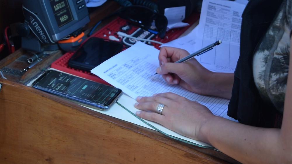 Les relevés GPS se font avec le smartphone et papier