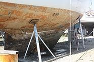 Carrénage du voilier avant le départ de l'expédition SEA Plastics 2019