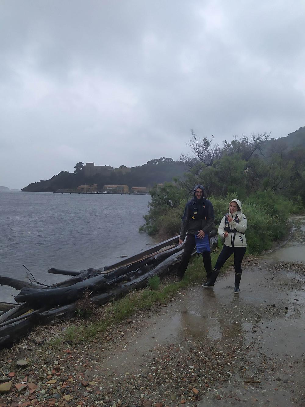 Visite de l'île de Port-Cros par temps de pluie
