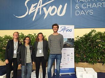 L'équipage SEA Plastics à l'événement SeaYou organisé par la Marina de Genova