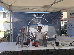 Sensibilisation à la pollution plastique au port de vieille Darse de Toulon par l'association SEA Plastics