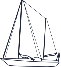 Ketch, voiler à deux mats utilisé pour faire une expédition océanographique pour étudier la pollution plastique