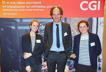 Sea Plastics remporte le pric Coup de Coeur du Jury au Challenge Citoyen recompensant les intiatives sociales et environnementales proposé par la CGI