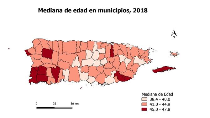 Once municipios con edad media sobre 44 años