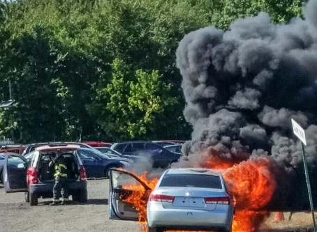 Skyline Auto Auction Vehicle Fire