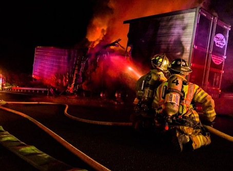 Route 80 Tractor Trailer Fire, Blueberries To Blame