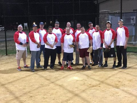 Firefighters Practice For Upcoming Police Vs. Fire Softball Game On June 18th