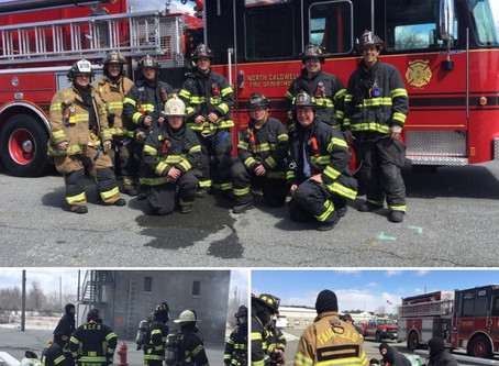 Fairfield Firefighters Attend Live Burn Training With North Caldwell Fire Dept.