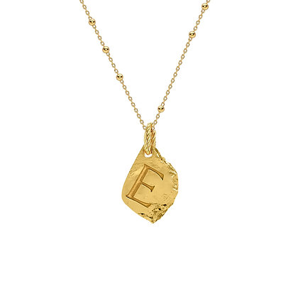"INITIAL NECKLACE ""E"""