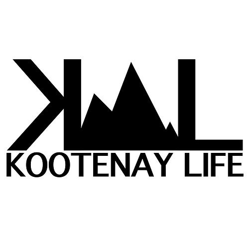 OG Kootenay Life Sticker - Matte Black