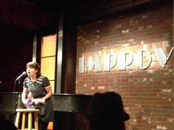 Performing standup at The Improv