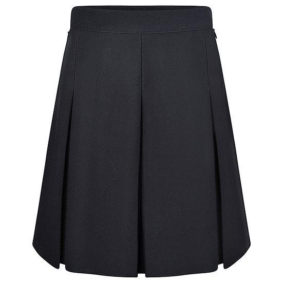Black New Stitched Down Pleat Skirt