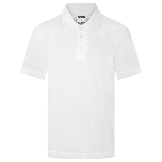 White polo - short sleeve