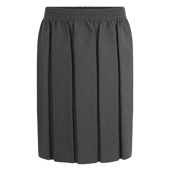 Grey Box Pleat skirt