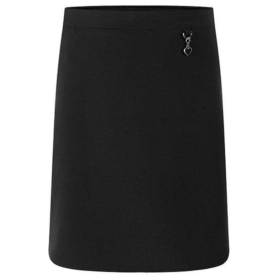 Black/Grey Stretch Heart Skirt