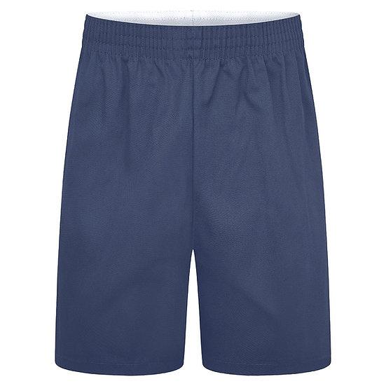 Navy Polly cotton shorts