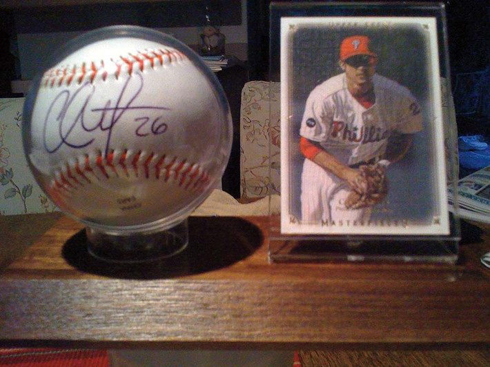 Chase Utley ball and card.jpg