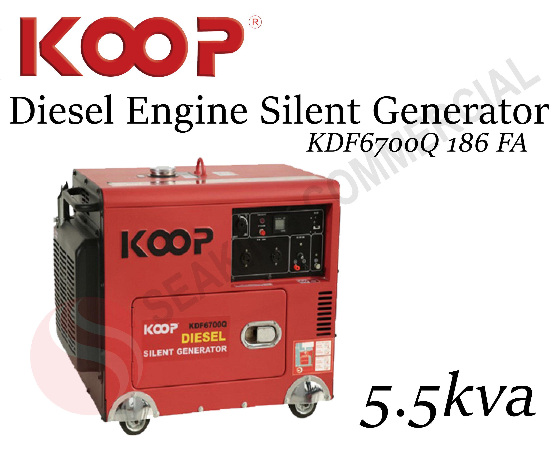 KDF6700Q 186 FA   5 5kva