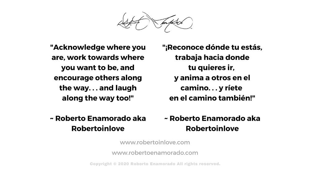 Roberto Enamorado Acknowledge Quote Bili