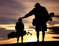 father son golf