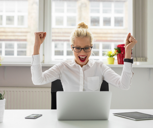 Celebrate business success. Women in business.