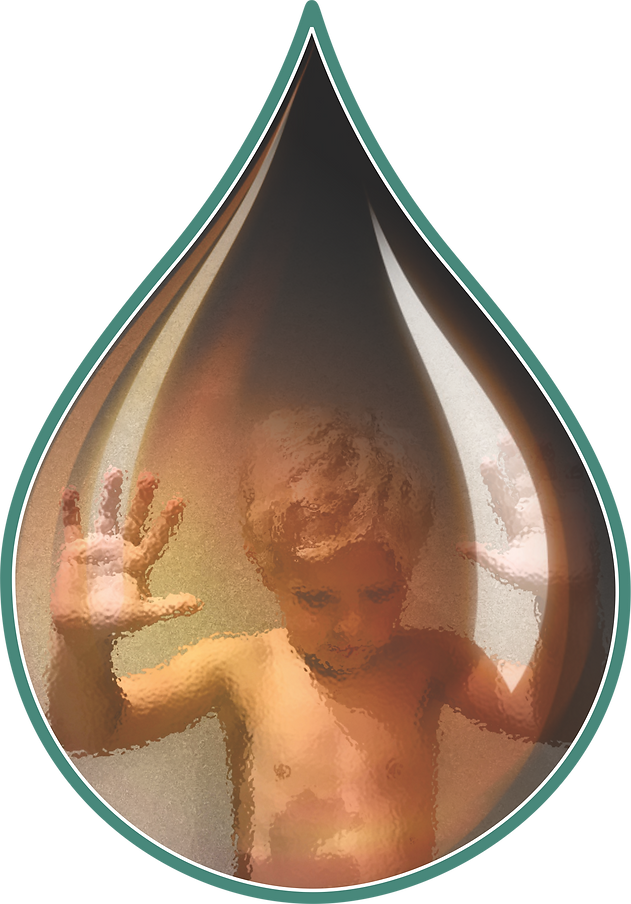 Picture of boy in a oil drop