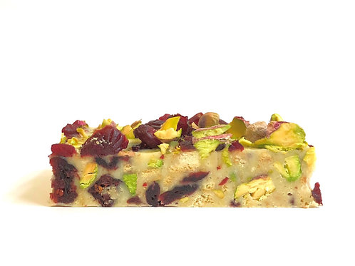 Pistachio + Cranberry tiffin
