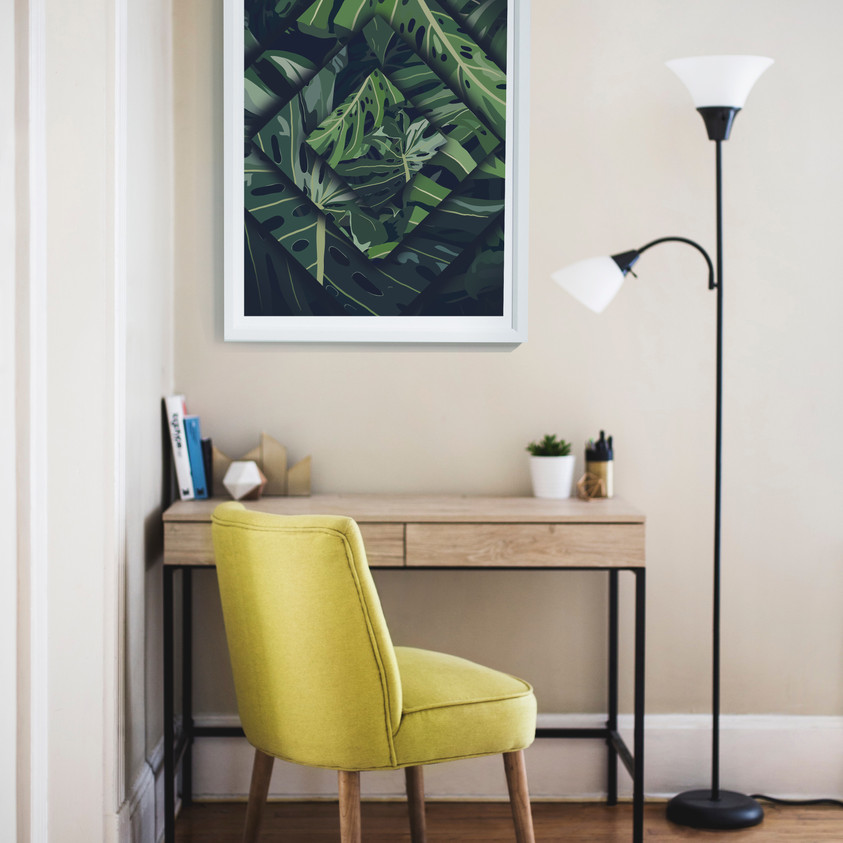 Simple Frame Complimenting Room