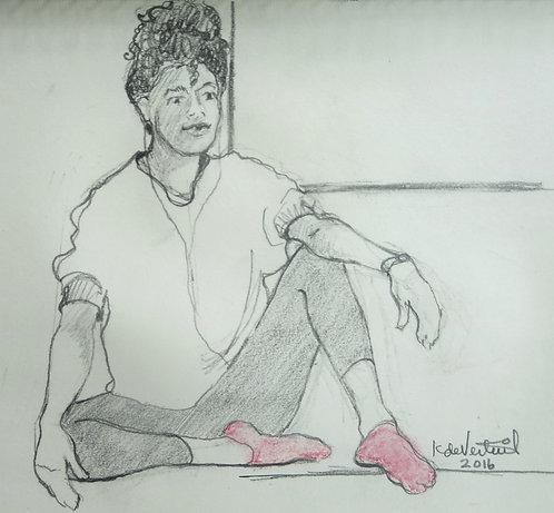 Girl In Pink Socks