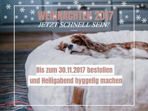 orthopädisches Hundebett Hyggebed Weihnachten