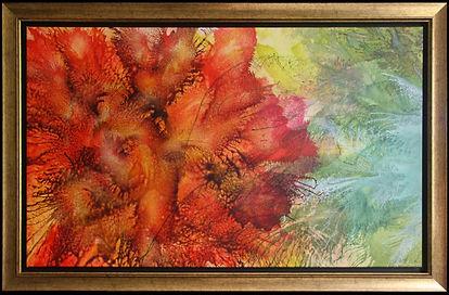 Bunga Bunga 113 x 72cm (Size including frame) - Sold