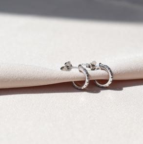 Pisa Zirconia Hoop earrings